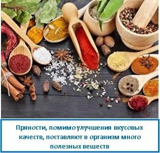 Пряности, помимо улучшения вкусовых качеств, поставляют в организм много полезных веществ