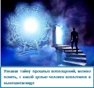 Узнавая тайну прошлых воплощений, можно понять, с какой целью человек воплотился в нынешнем виде