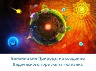 Влияние сил Природы на создание Ведического гороскопа человека