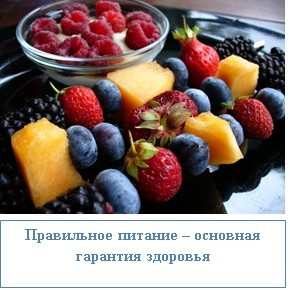 Правильное питание – основная гарантия здоровья