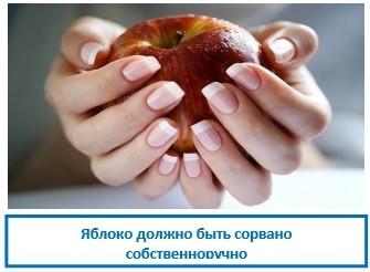 Яблоко должно быть сорвано собственноручно
