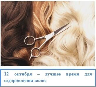 12 октября – лучшее время для оздоровления волос